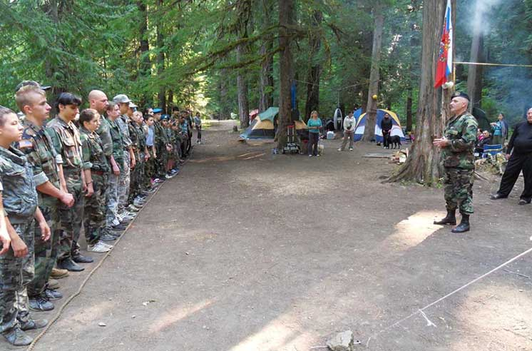 10th annual Russian paramilitary bootcamp held on the day of Russian airborne troops. Oregon, USA, 2015 (Image: slavicsac.com)