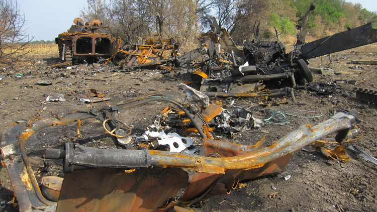 A part of Ukrainian column destroyed by Russians Photo: Pavlo Netesov