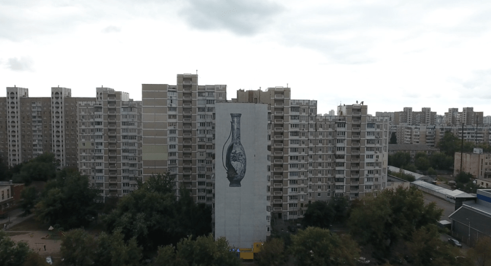 Author: Olivier Bonnard's (Canada) The mural combines the role of Cossacks in the historical and cultural development of Ukraine and the consequences of human impact on the Black Sea