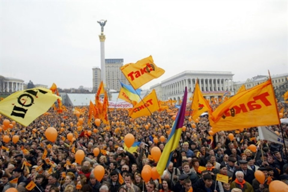 During the Orange Revolution in 2004, Ukrainians protested against electoral fraud in the presidential election, where the results between leading candidates Viktor Yushchenko and Viktor Yanukovych were rigged by the authorities in favor of the latter