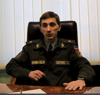 "Head of the ""Republic's Guard"" Grigory Belyayev."