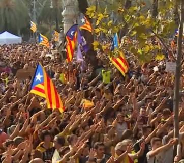 catalonia protesters