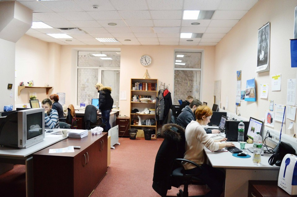 The newsroom of the public TV channel Photo: Euromaidan Press