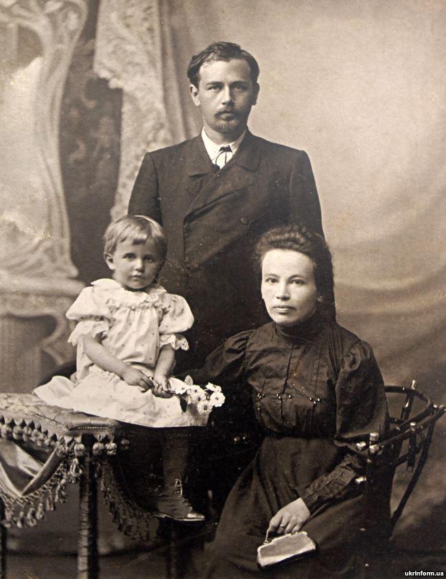 Mykola Leontovych (1877-1921), Ukrainian composer, choral conductor, public figure with his family. Exhibition of retro-photos by artist Volodymyr Kozyuk: Vinnytsia Region: A View into the Past