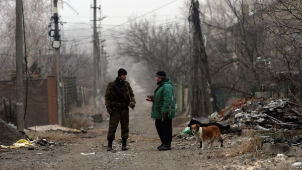 On the streets of Donetsk, December 2014