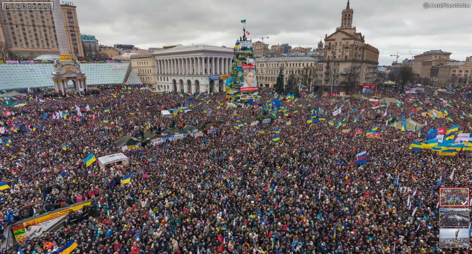 The Euromaidan revolution attracted up to a million protesters daily. Photo: AirPana