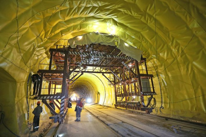 Design and construction of Beskydy tunnel. Photo: Interbudmontazh