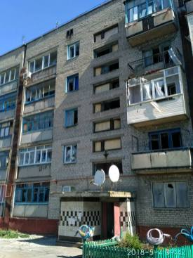 Consequences of a May 4 mortar attack on Mayorsk, Ukraine-controlled suburb of the occupied city of Horlivka. Photograph: Facebook/pressjfo.news