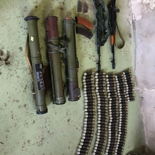Firearms for secret caches in Kyiv Oblast. Photograph: SBU