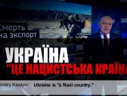 "A screen capture from the video presentation of the study by the Ukraine Crisis Media Center named ""Image of Ukraine on Russian TV"""