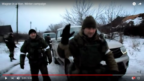 Four more armed men in uniform without insignia, the one in the foreground was allegedly the squad commander - in the last clip he gives commands to snipers amid the battle (5m20s)