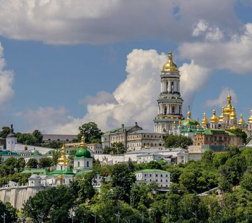 Modern view of the Kyiv-Pechersk Lavra monastery. Photograph: Wikimedia Commons