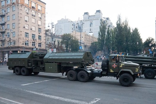 1L220UK Zoopark-2 artillery radar at the rehearsal for the Independence Day military parade in Kyiv, 2018. Photo: Wikimedia Commons