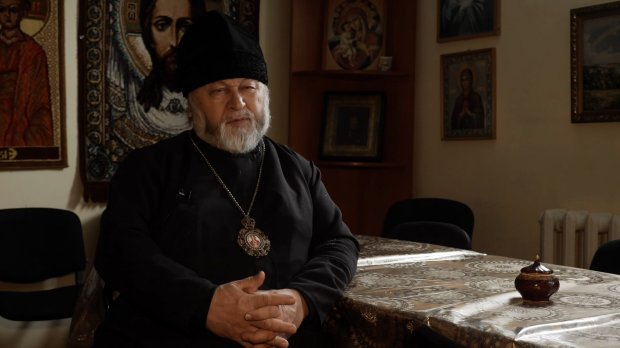 Father Andrian, the head of the only church of the Orthodox Church of Ukraine in Russia. The priest and the parishioners have been harassed by Russian authorities since the community decided to transfer their church's subordination to the Kyiv Patriarchate. (Photo: 24tv.ua)