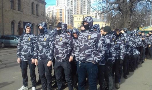 Members of National Militia. Kyiv, 27 February 2019. Photograph: Facebook/Роман Чернышев