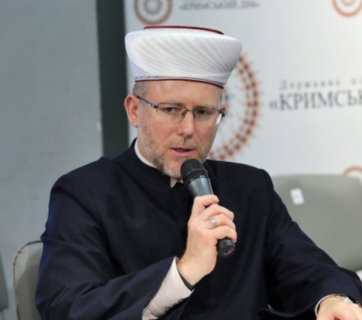 Mufti Said Ismagilov, the head of the Umma Muslim Spiritual Directorate of Ukraine, speaking at the Crimean House in Kyiv on May 7, 2019 (Photo: atr.ua)
