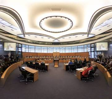 The courtroom of the International Tribunal for the Law of the Sea (Photo: itlos.org)
