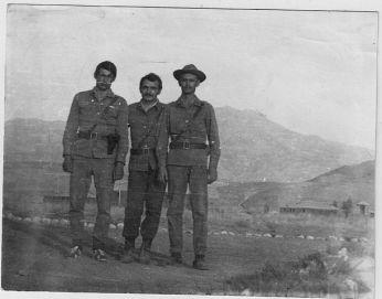 Volodymyr Tsemakh (center) in Afghanistan.