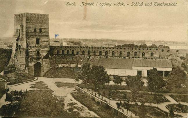 Early XX c. postcard showing parts of the wall missing.