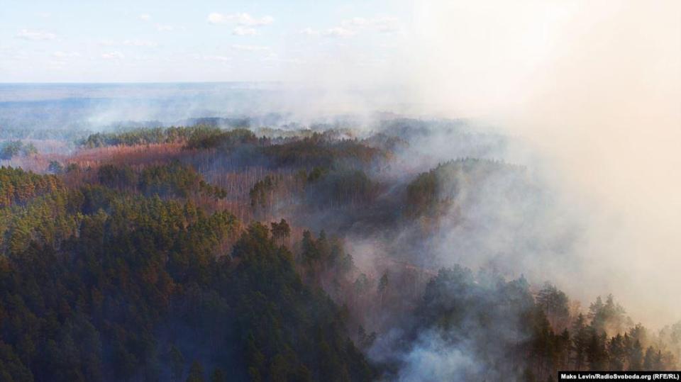 Forest fire near border crossing point & laquo; Speech & raquo;