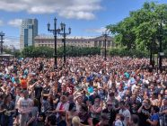 Protests in Khabarovsk, Russia, July 11, 2020. Photo: Navalny's office in Khabarovsk