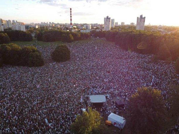 A rally in Minsk. Photo: belrynok.by