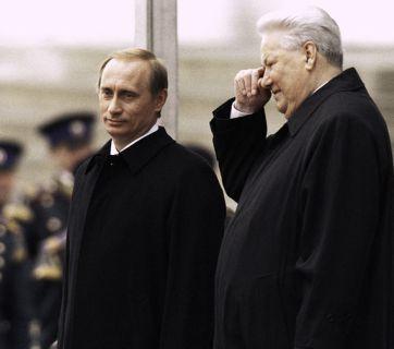 Second Russian president Vladimir Putin and Russia's first president Boris Yeltsin at Putin's first inauguration. Moscow, 7 May 2000. Photo: RIA Novosti