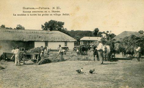 Horse threshing machine in Bilyky village near Poltava