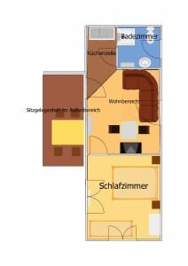Ahlbeck Grundriss Ferienwohnung Waldstraße
