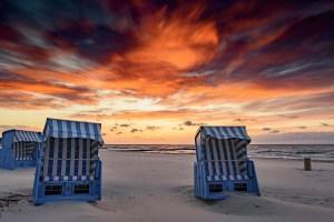Strand Insel Usedom mit Strandkörben
