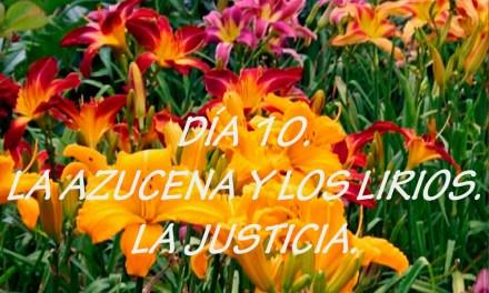 DÍA 10. LA AZUCENA Y LOS LIRIOS. LA JUSTICIA.