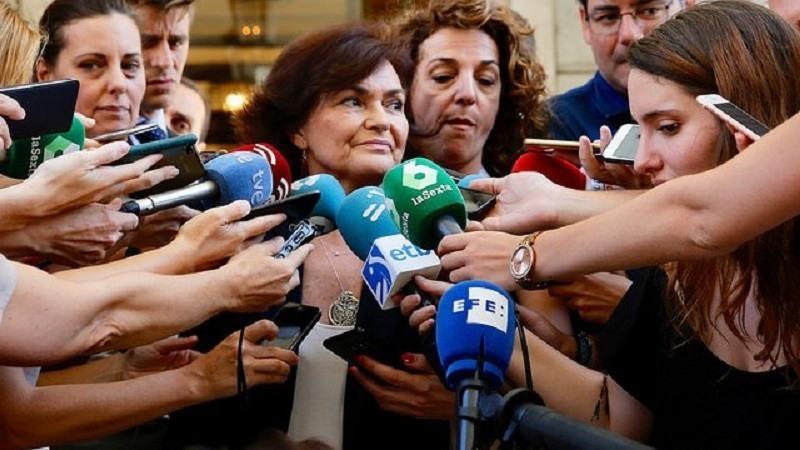 Carmen Calvo asegura que habrá presupuestos en 2019 y niega la debilidad del Gobierno de Sánchez
