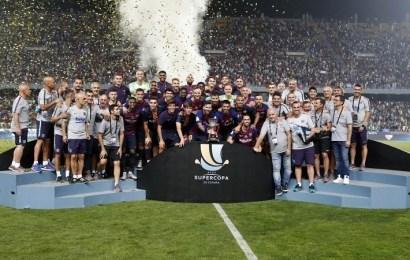 Messi, Dembele y Ter Stegen, protagonistas en la victoria del Barça ante el Sevilla en la Supercopa de España