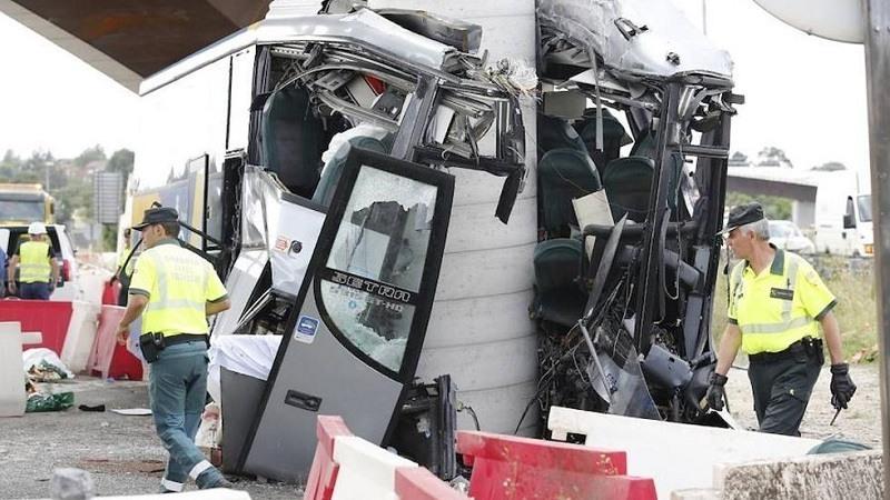 Accidente autobus en Aviles