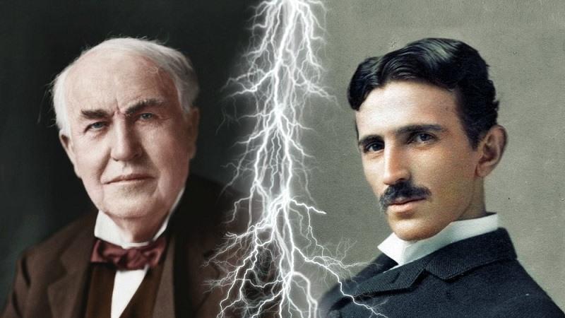 Thomas Edison vs Nikola Tesla, la guerra de las corrientes