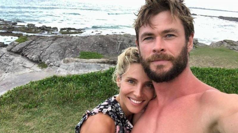 Elsa Pataky y Chris Hemsworth en una imagen de Instagram