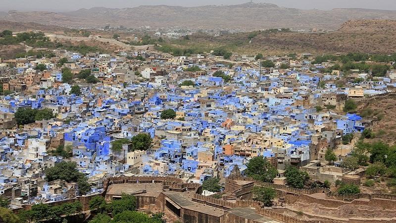 La ciudad azul de Jodhpur en la India