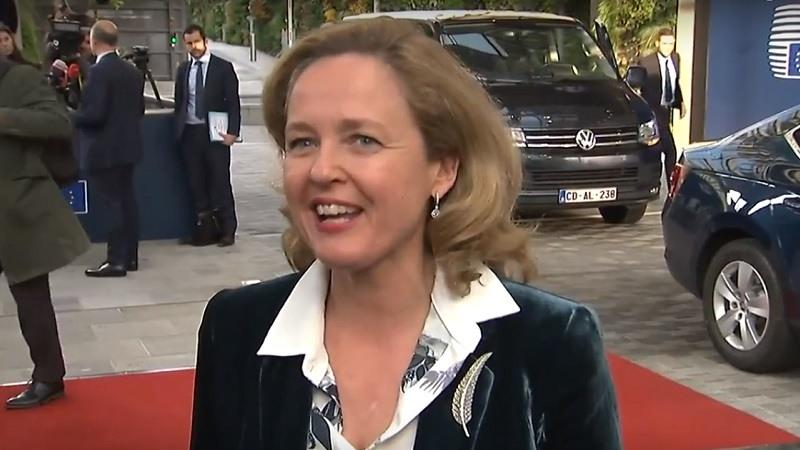 La ministra de Economia y Empresa, Nadia Calvino, en Bruselas