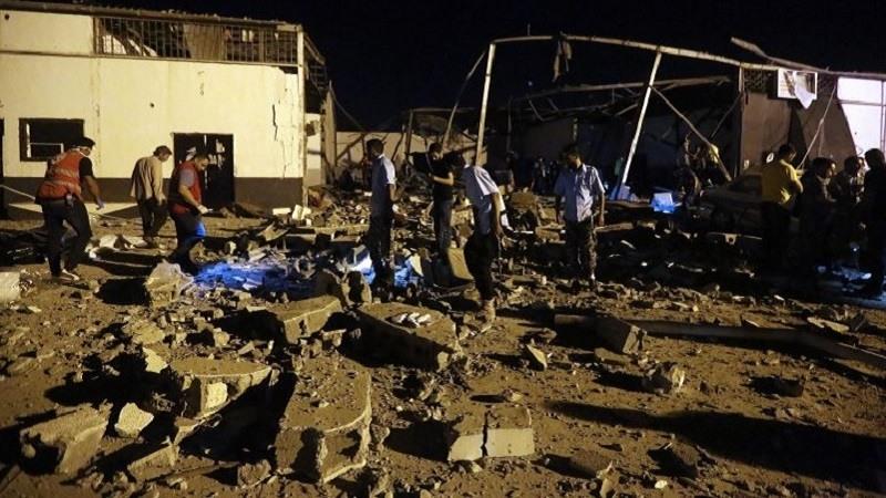 Bombardeo en Tripoli