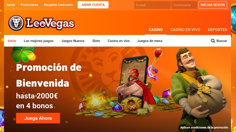 LeoVegas: propuesta de juegos y bonos en España