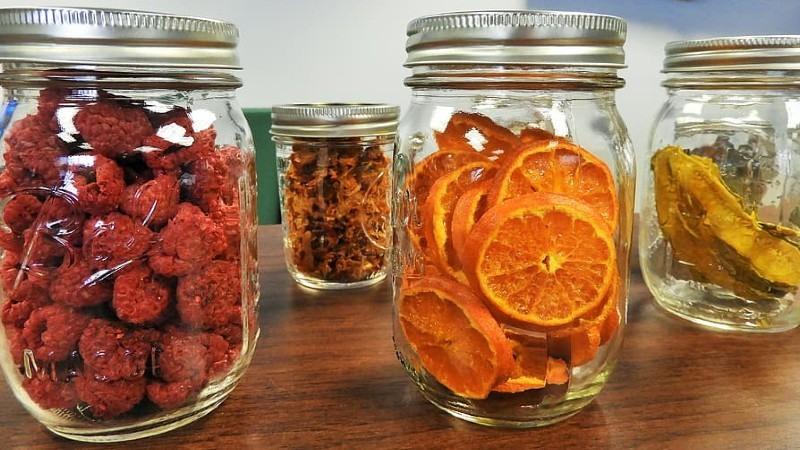 Las frutas deshidratadas como sabrosa fuente de potasio