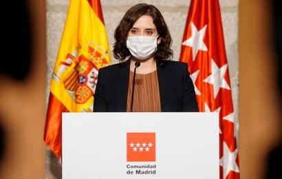 Ayuso solicita a Sánchez la ayuda de las Fuerzas y Cuerpos de Seguridad del Estado y del Ejército ante las nuevas restricciones que entran hoy en vigor