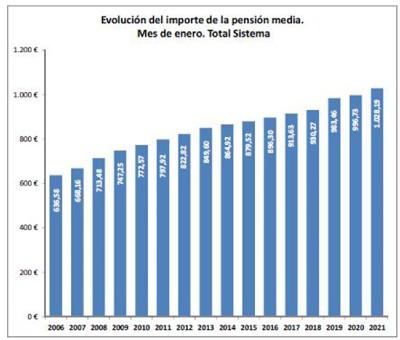 Evolución importe pensión media