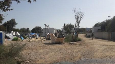 Hotspot-lägret Vial på Chios, vid Grek-Turkiska gränsen