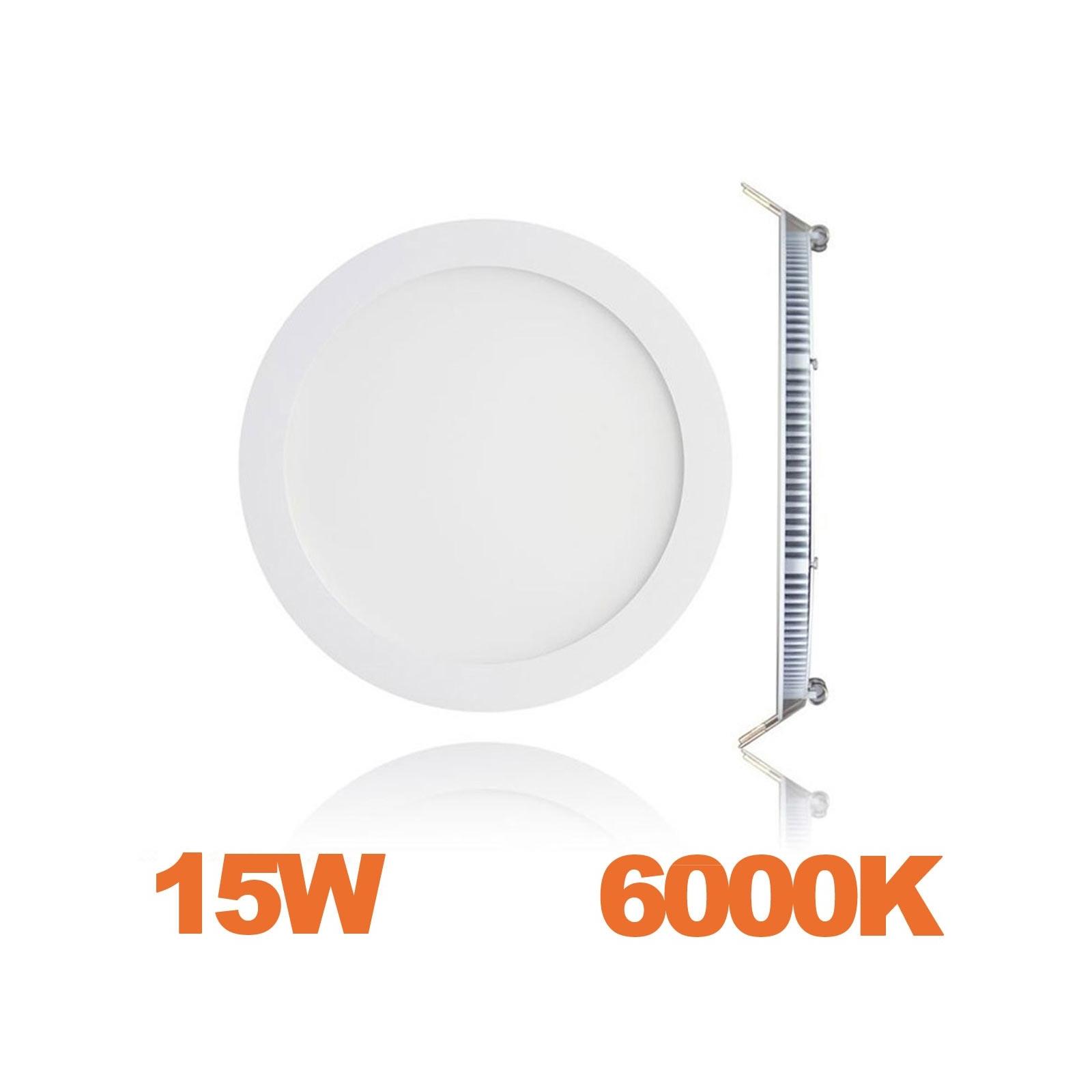 spot encastrable led downlight panel extra plat 15w blanc froid 6000k
