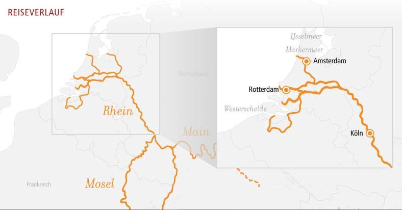 Flusskreuzfahrt auf dem Rhein