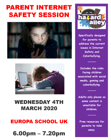 Parent internet safety session