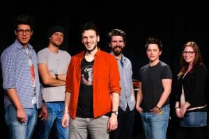 La band a colori- Mattia Bordignon, Marco Cuzzovaglia, Sebalter, Rocco Casella, Patric Scott e Salomé Christiani