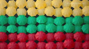 Postcard flags of Eurovision 2014 - Lithuania