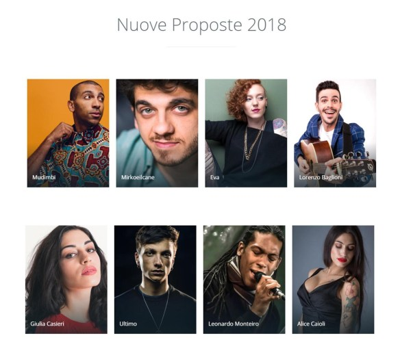 Nuove Proposte Sanremo 2018